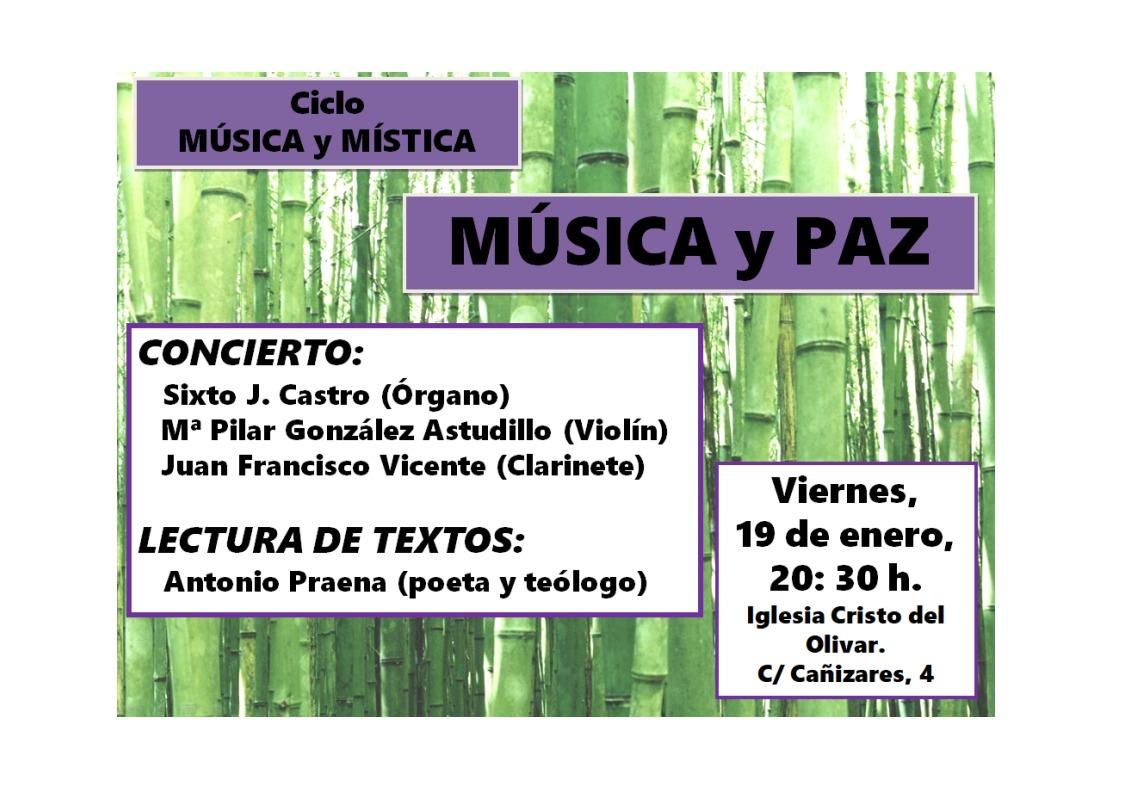 """Ciclo """"Música y Mística"""": Música y Paz"""
