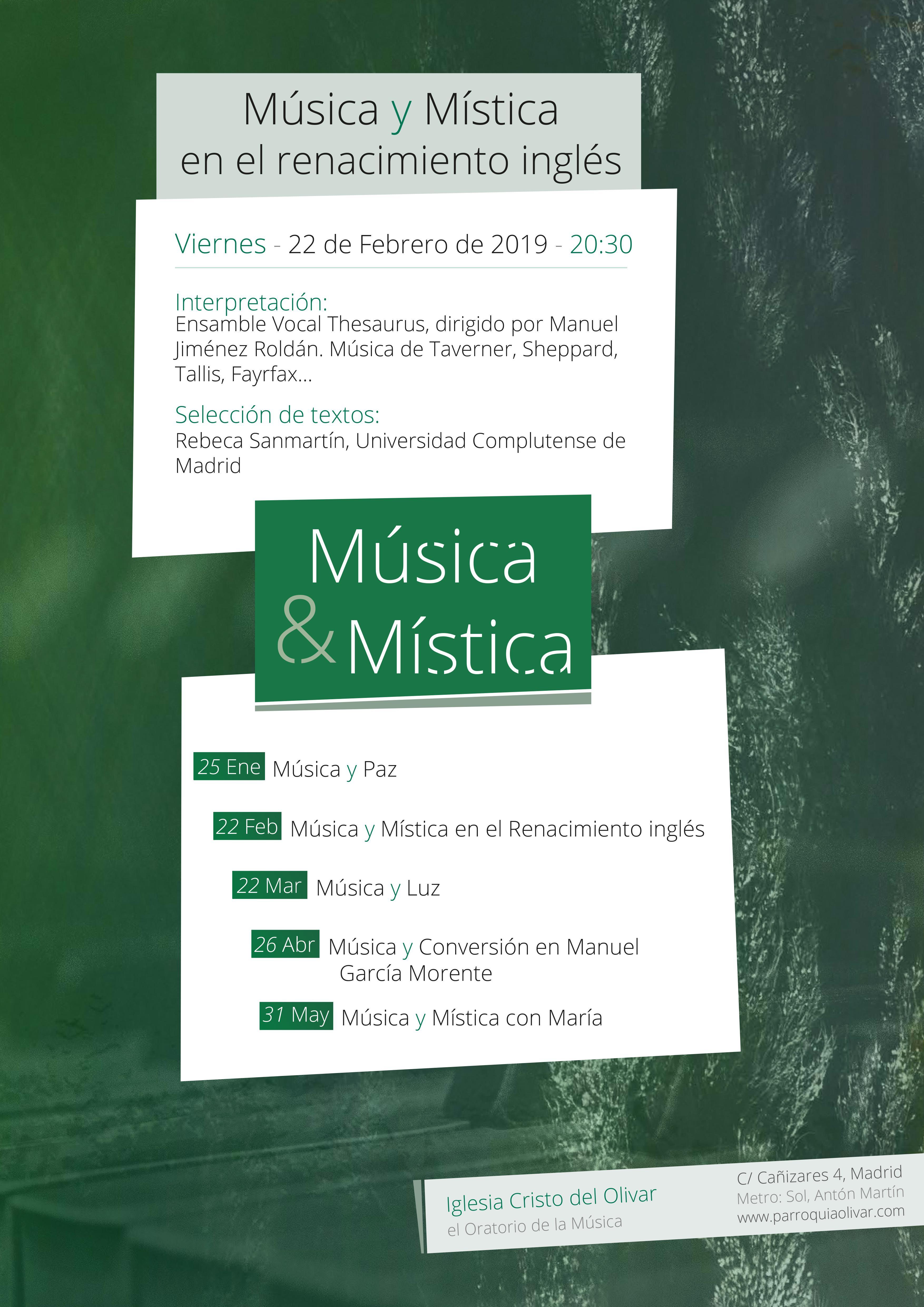 Música y Mística en el renacimiento inglés