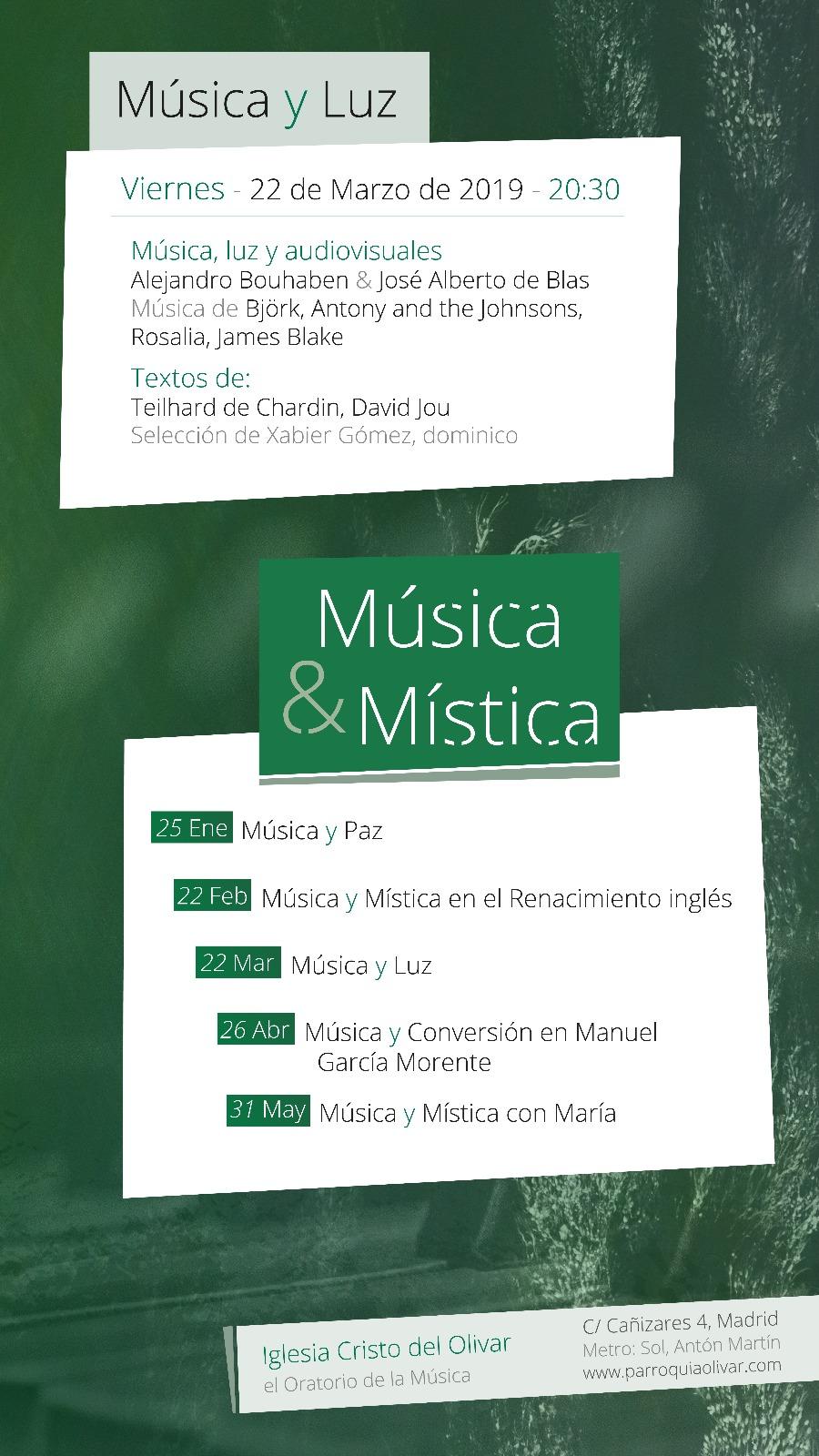 Música y Mística. Música y Luz