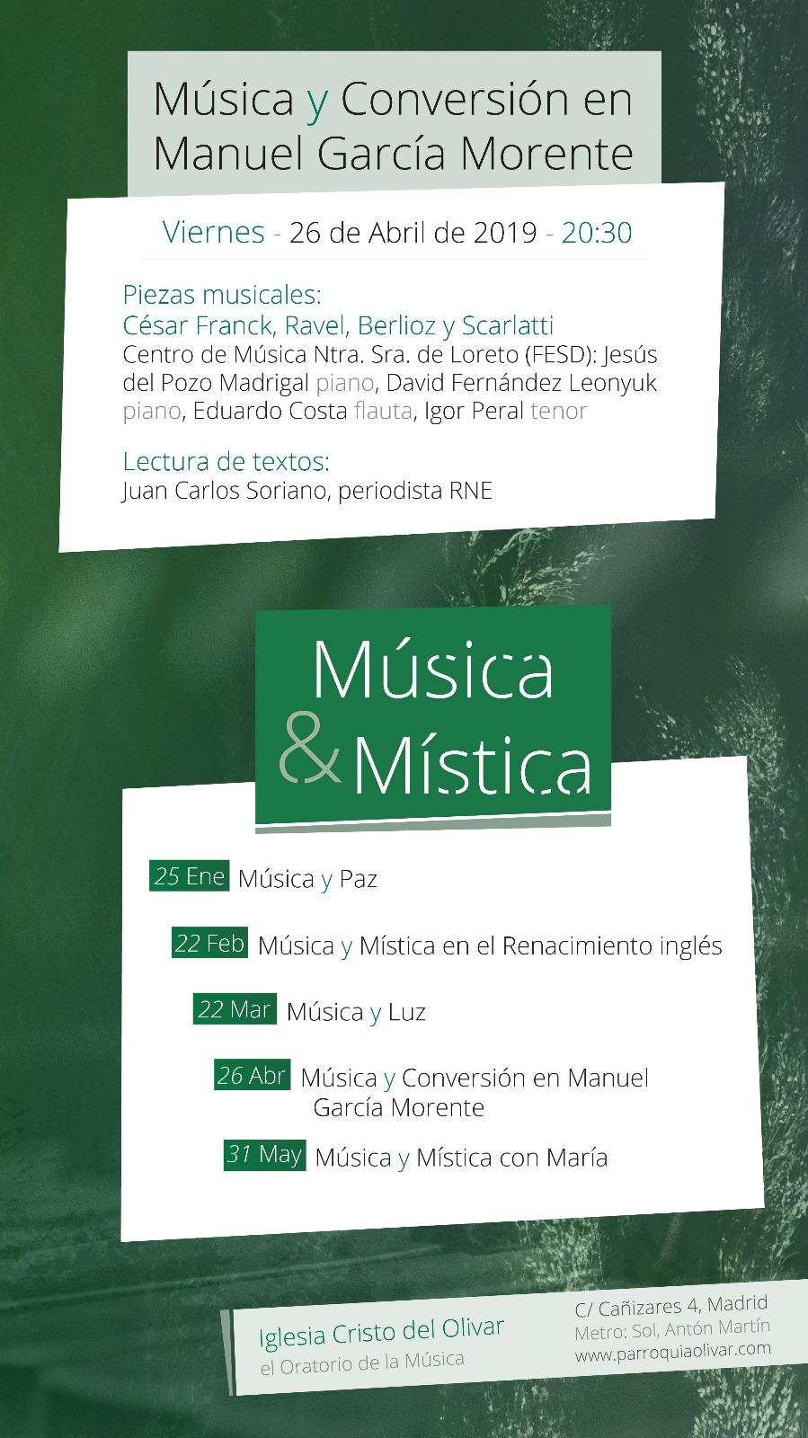 Música y Mística: Música y Conversión en Manuel García Morente